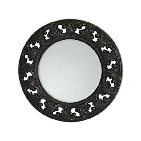 Eleganckie lustro w czarnej ramie 74x74cm