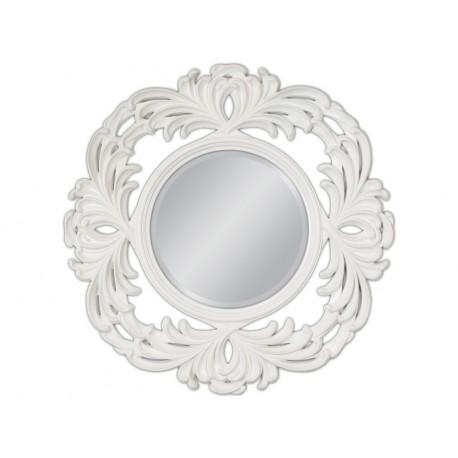 Lustro białe w ozdobnej ramie 100x100cm