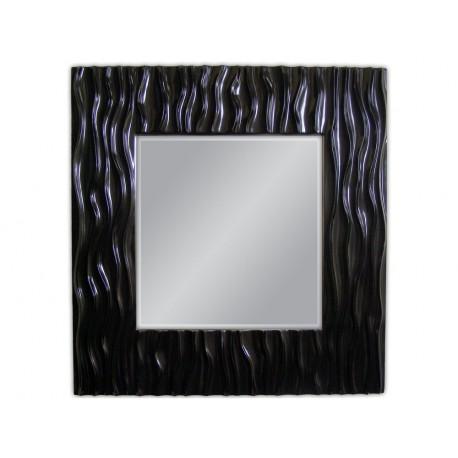 Eleganckie lustro czarna rama 100x100cm