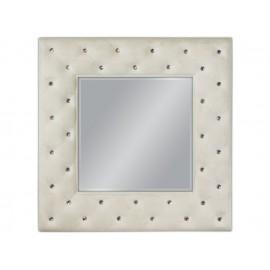 Eleganckie lustro białe przecierane 98x98cm