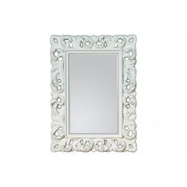 Eleganckie i ozdobne lustro w białej ramie 62x85cm