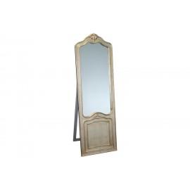 Ozdobne lustro stojące srebrna rama 55x170cm