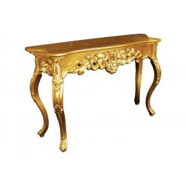 Komódka w kolorze złotym 115x37x74cm