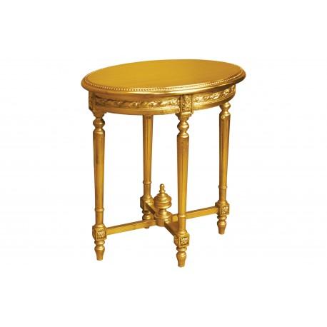 Stolik okrągły w kolorze złotym M-95 65x65x75