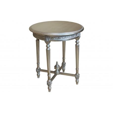 Stolik okrągły w srebrnym kolorze M-95 65x65x75cm
