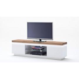 Elegancka szafka rtv Romina I w kolorze białym-LED