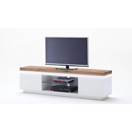 Elegancka szafka rtv OMENA I w kolorze białym-LED
