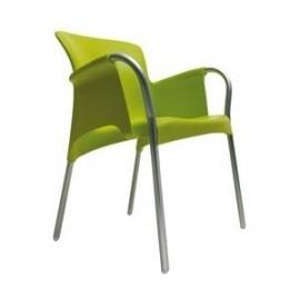 Krzesło OH z podłokietnikami Lime green