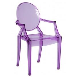 Krzesło Royal fioletowy transparentny
