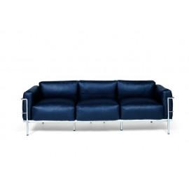 Sofa 3-osobowa Soft GC czarna skóra