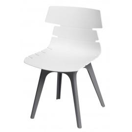 Krzesło Techno białe podstawa szara