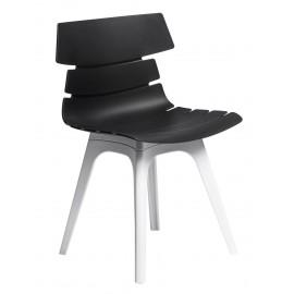 Krzesło Techno czarne podstawa biała