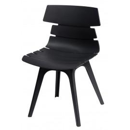 Krzesło Techno czarne podstawa czarna