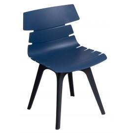 Krzesło Techno niebieskie podstawa czarna