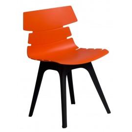 Krzesło Techno pomarańczowe podstawa czarna