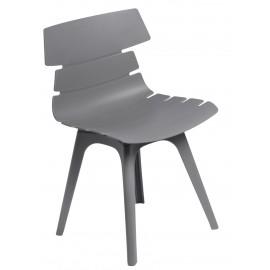 Krzesło Techno szare podstawa szara
