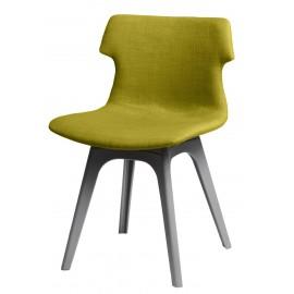 Krzesło Techno tapicerowane oliwkowe podstawa szara