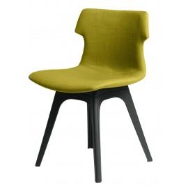 Krzesło Techno tapicerowane oliwkowe podstawa czarna