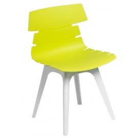 Krzesło Techno zielone podstawa biała