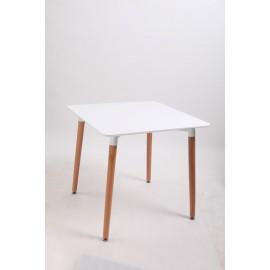 Stół Copine blat biały 80x80 cm