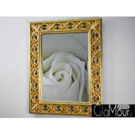 Eleganckie lustro PU-073 75x95cm ZŁOTE