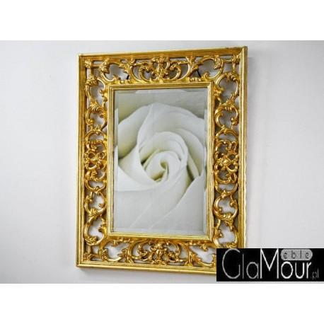 Eleganckie lustro złota rama PU-304 70x90cm