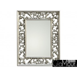 Eleganckie lustro srebrna rama PU-304 70x90cm