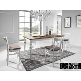 Flavo stół z litego drewna w stylu prowansalskim