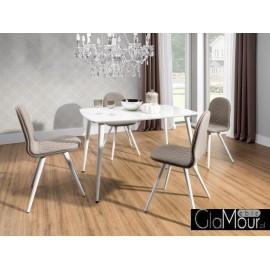 Stół Essai white + krzesła Foglio