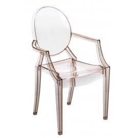 Krzesło Royal bursztynowy transparent