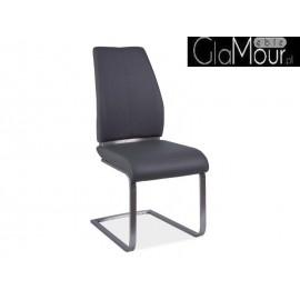 Krzesło Max w kolorze szarym ekoskóra
