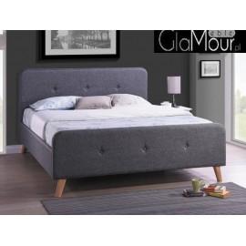 Łóżko Malmo w kolorze szarym