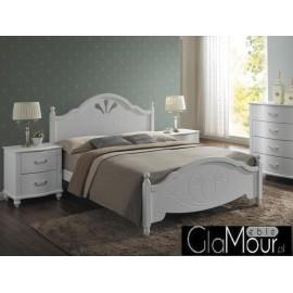 Łóżko Malta do sypialni kolor biały