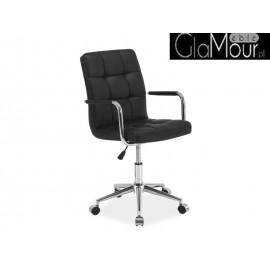 Fotel Obrotowy Q-022 ekoskóra kolor czarny