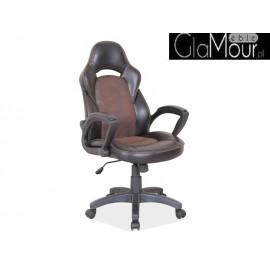 Fotel Obrotowy Q-115 kolor czarno-brązowy