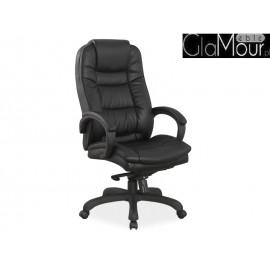 Fotel Obrotowy Q-155 kolor czarny ekoskóra
