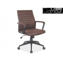 Fotel Obrotowy Q-843 w kolorze brązowym