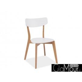 Krzesło Mosso kolor biały/dąb