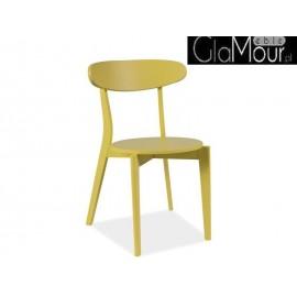 Krzesło Coral kolor żółty