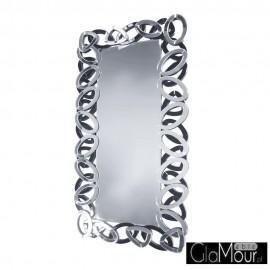 Lustro Diana w czarno-srebrnej szklanej ramie