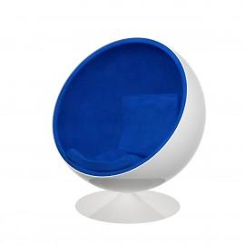 Fotel Kula biało/niebieski
