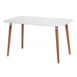 Stół Copine blat biały 130x80 cm