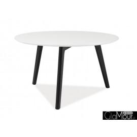 Ława Milan L1 kolor czarny/biały