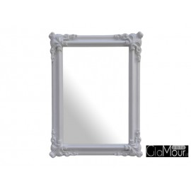 Eleganckie lustro Orient white