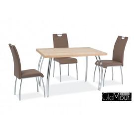 Stół SK-2 do salonu kolor biały/chrom