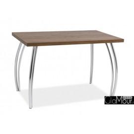 Stół SK-2 do salonu orzech/chrom