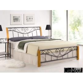 Łóżko Parma kolor dąb / czarny