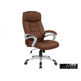 Fotel obrotowy Q-08 brązowy