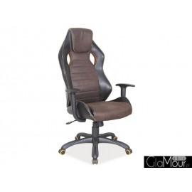 Fotel Obrotowy Q-207 brązowy/czarny