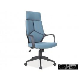 Fotel Obrotowy Q-199 czarny-biały